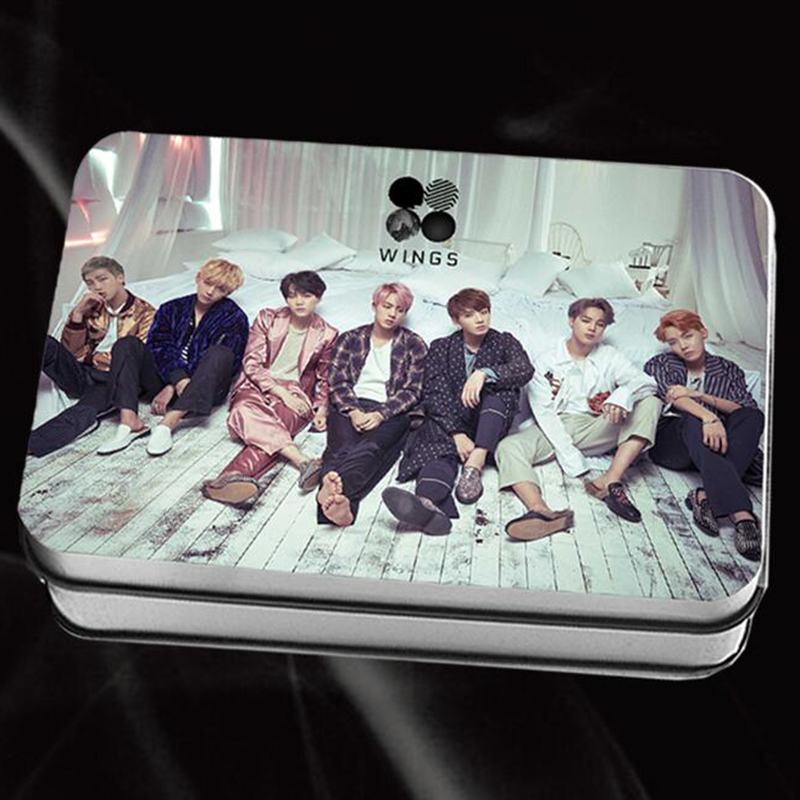 все цены на Youpop KPOP BTS Bangtan Boys V Suga Album WINGS LOMO Cards Self Made Paper Photo Card With Box HD Photocard