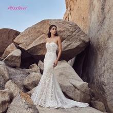 Detachable Train Wedding Dress 2019 backless
