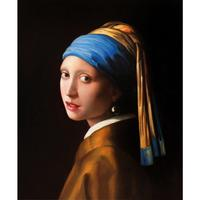 Portrait painting Girl with Pearl Earring Johannes woman Figure oil paintings Hand painted Stretched Framed Canvas art