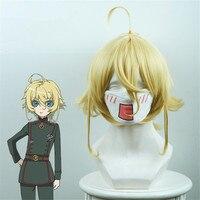 Youjo Senki Tanya von Degurechaff Cosplay Wig Short Straight for Women Heat Resistant Synthetic Hair Anime Costume Wig Blond