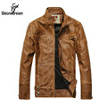 2017 Famous Man Leather Jackets Men Windbreaker Motorcycle Leather Jackets Coat  Male Long Sleeve Mandarin Collar Suede Coat