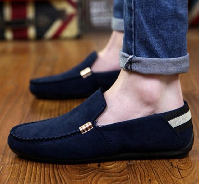 Nouveau Mode Hommes Velours Robe chaussures italien zapatillas hombre  calzado hommes Mocassins calzado mocassin homme chaussure c59f29fa2d41