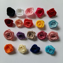 50pcs/lot 30mm Polyester Rose Flower Girls and Women Hair Accessories Scrapbooking Products Craft Garment