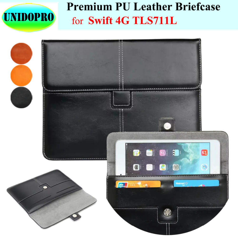 Premium PU Leather Slim Sleeve Bag for Philips Swift 4G TLS711L Tablet 7 inch Briefcase Pouch Case w/ Credit Cards Holder 12mm waterproof soprano concert ukulele bag case backpack 23 24 26 inch ukelele beige mini guitar accessories gig pu leather