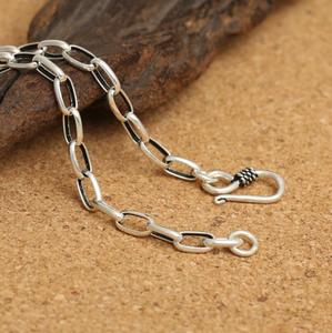 Image 3 - Pure Silver 4mm Thick Flat Circle Cross Link Chain Silver Necklace Sterling 925 Silver Jewelry