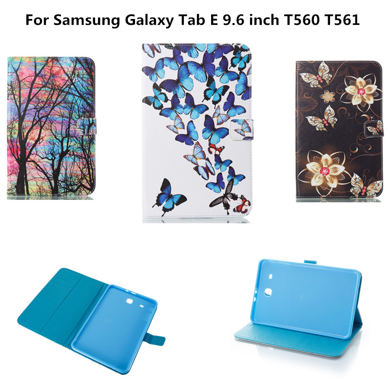 PU Leather Cover Case Armor Kickstand Silicone TPU Back Cover for For Samsung Galaxy Tab E 9.6 inch T560 T561 Sm-t560 Tablet luxury flip stand case for samsung galaxy tab 3 10 1 p5200 p5210 p5220 tablet 10 1 inch pu leather protective cover for tab3