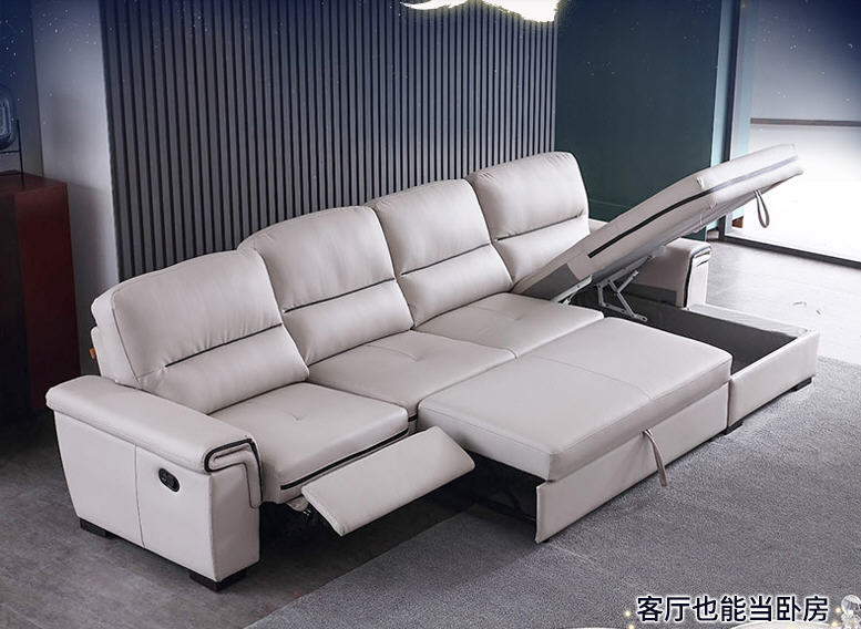 Living Room Sofa bed real genuine leather sofas salon couch puff asiento muebles de sala canape electric recliner L sofa cama