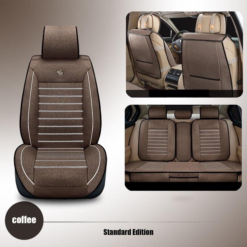 Universel siège d'auto de lin couvre Pour Hyundai solaris ix35 ix25 i30 Elantra accent tucson Sonate de voiture accessoires siège coussin