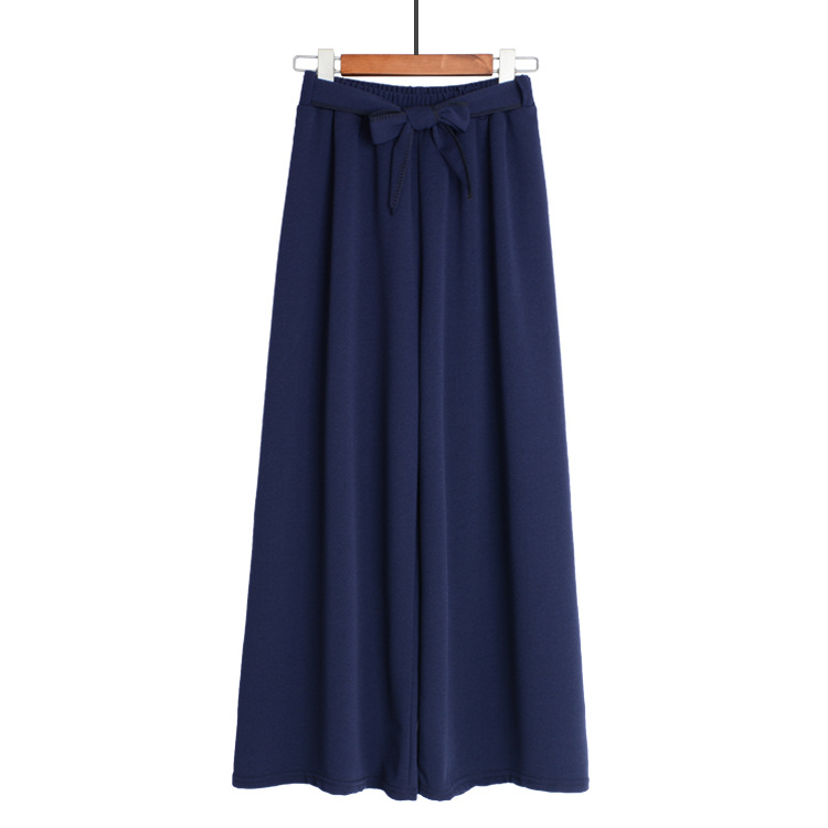 HTB1fGctTAPoK1RjSZKbq6x1IXXap - Yanueun Spring Summer Hot Sale Solid Wide Leg Pants Loose Pants Bow Ankle Length Pants Women's High Waist Stylish Loose Pants