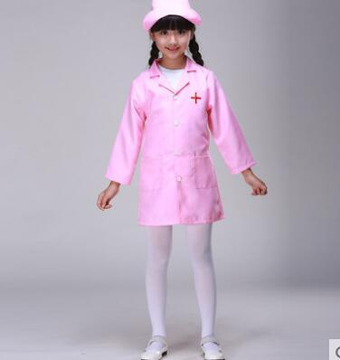 2016 hot Halloween Doctor Doc McStuffins Vocational Nurse Role Play Costume Children Girl Cosplay Fantasia Fancy Dress Clothing