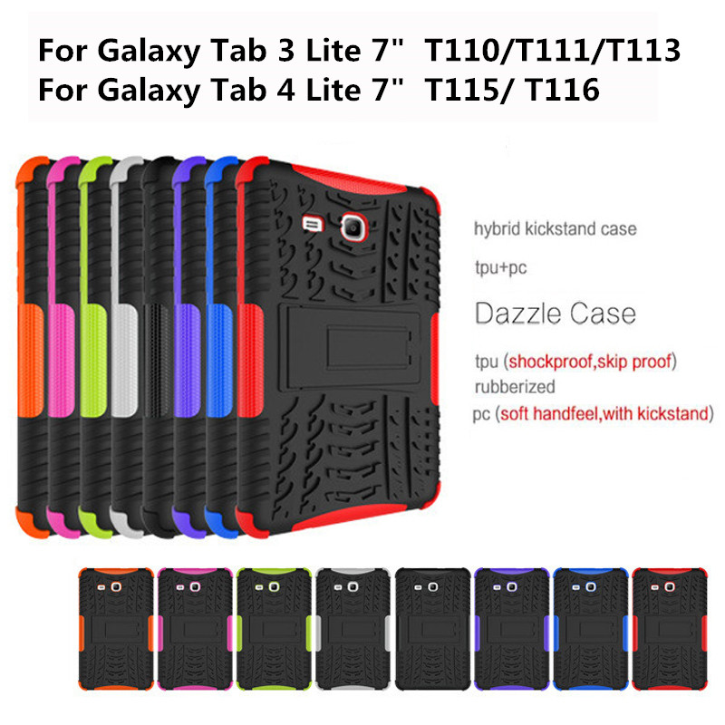 Shockproof Heavy Duty Rubber Hard Case Cover For Samsung Galaxy Tab 3 Lite 7.0 T110 Drop Proof Tablet Hard Shell For T111 T116 alabasta kids shockproof rugged heavy duty silicone pc case cover for samsung galaxy tab 3 lite 7 0 sm t110 t111 t113 t115