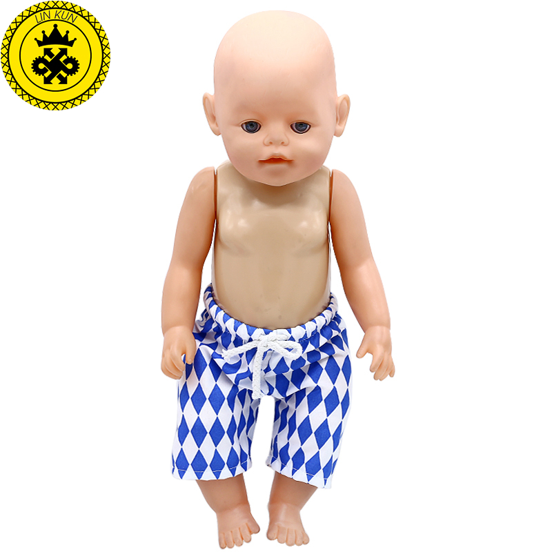 Baby Doll Clothes Summer Beach Shorts Fit 43cm  Baby Doll Accessories Children's Day Gift 605