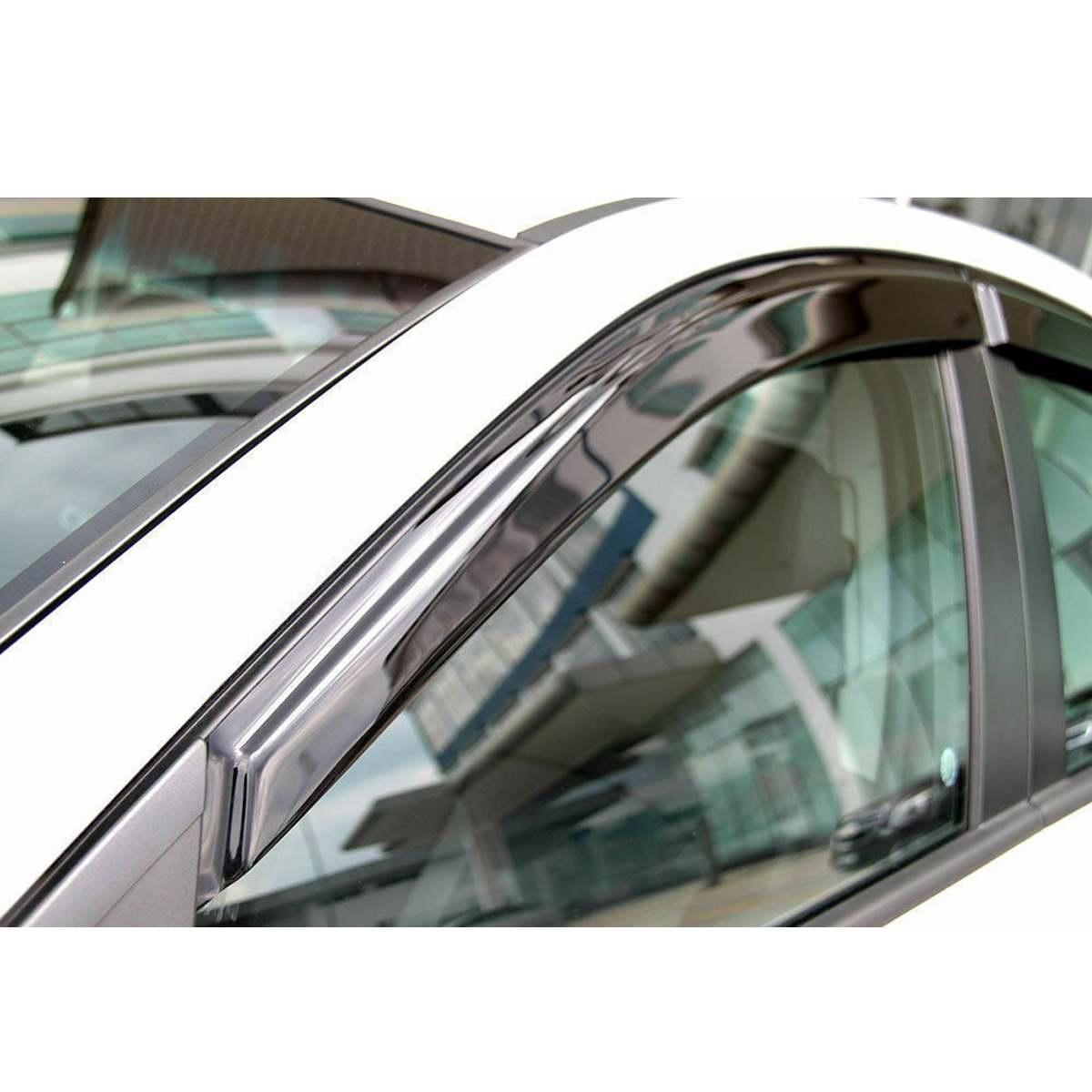 Déflecteur de pare-brise de fenêtre 4 pièces/ensemble garnitures chromées déflecteurs d'ombre de soleil d'évent pour Toyota RAV4 2019 ~ 2020 - 2
