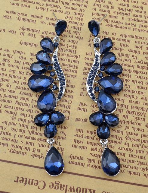 Crystal Peacock Earrings