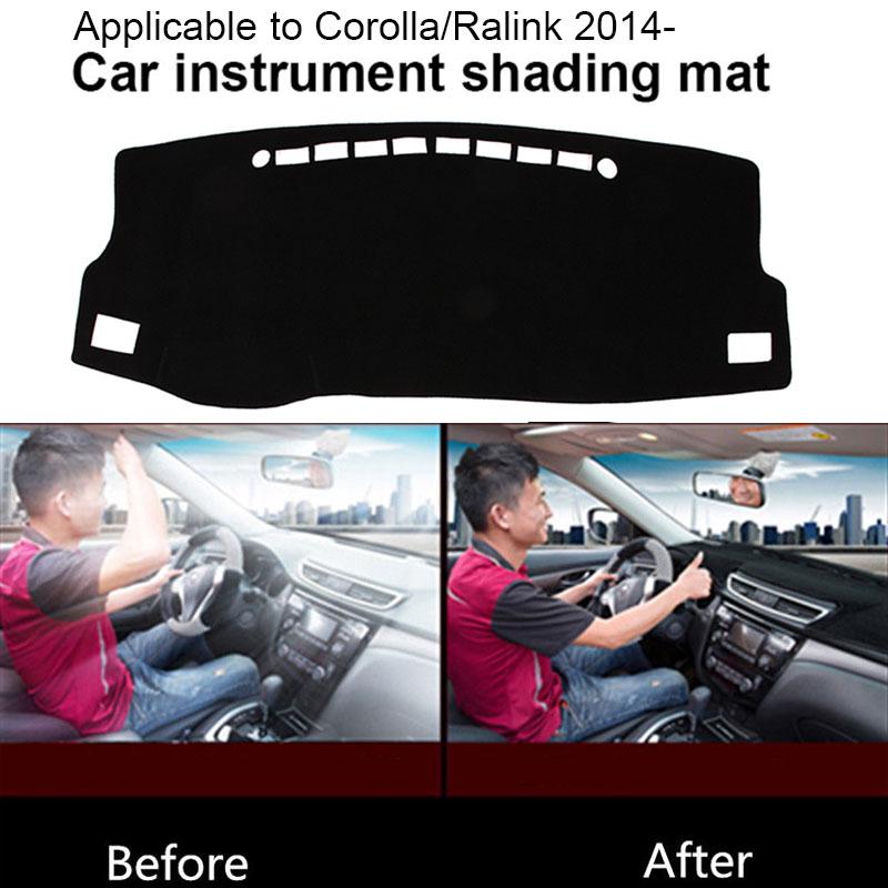 Коврик для приборной панели силиконовый Слип Черный приборной панели крышка приборной панели части Солнцезащитная Накладка для машины Pad части грузовика для Toyota Corolla Ralink после