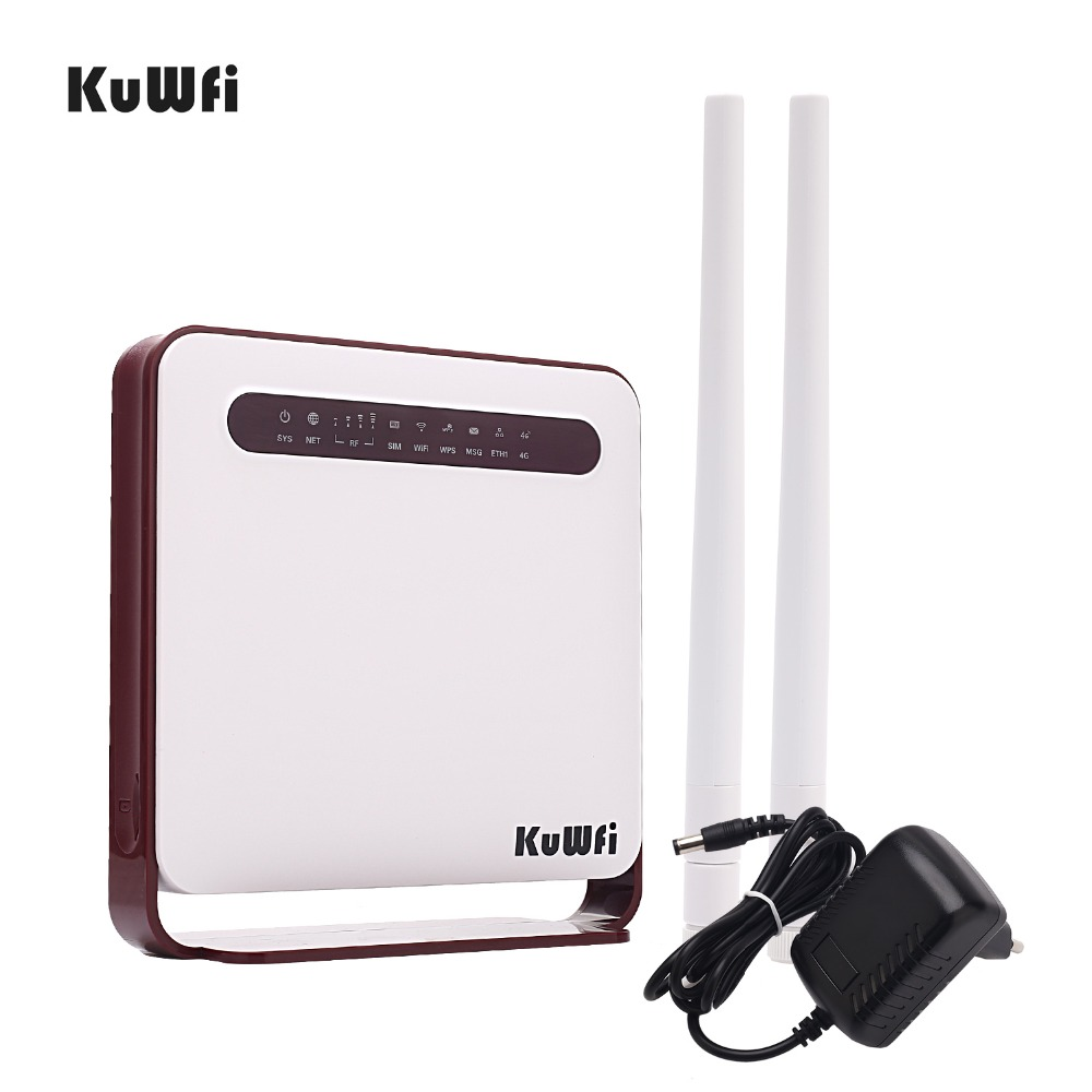 Image 5 - KuWfi 4G WiFi Router 300Mbps Wireless Wi Fi Mobile LTE 3G/4G Unlocked CPE Router with SIM Slot 4LAN Ports Support 32 Wifi Users-in Wireless Routers from Computer & Office