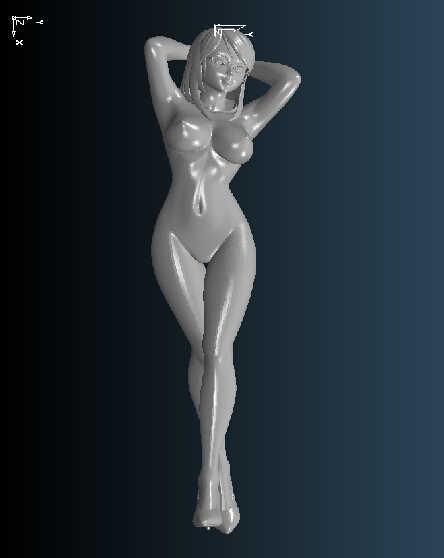 ที่มีคุณภาพสูง3Dแกะสลักประติมากรรมรูปเครื่องมิติสำหรับซีเอ็นซีในรูปแบบไฟล์stlผู้หญิงเปลือย2