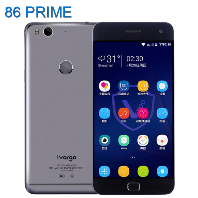 Original Ivargo V210101 Mobile Phone Qualcomm Snapdragon 615 MSM8939 Octa Core 3GB 32GB 13MP Fingerprint Smartphone NFC Phone