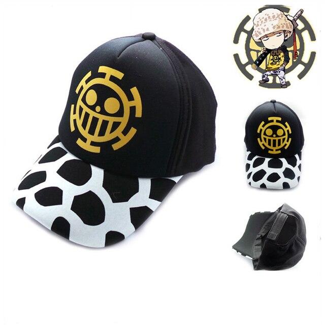 Top anime una pieza Trafalgar Ley logotipo algodón gorra de béisbol  ajustable Sol sombrero Cosplay regalo a78be0a72b0