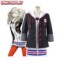 Persona 5 Анна такамаки платье косплей костюм Рождество Хэллоуин куртка юбка пальто платье рубашка чулки для девочек женщина