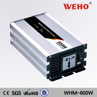 (WHM 600 122)600 watt Modified Sine Wave Car Boat 12V DC to 210V 220V 230V 240V AC Out Power Inverter