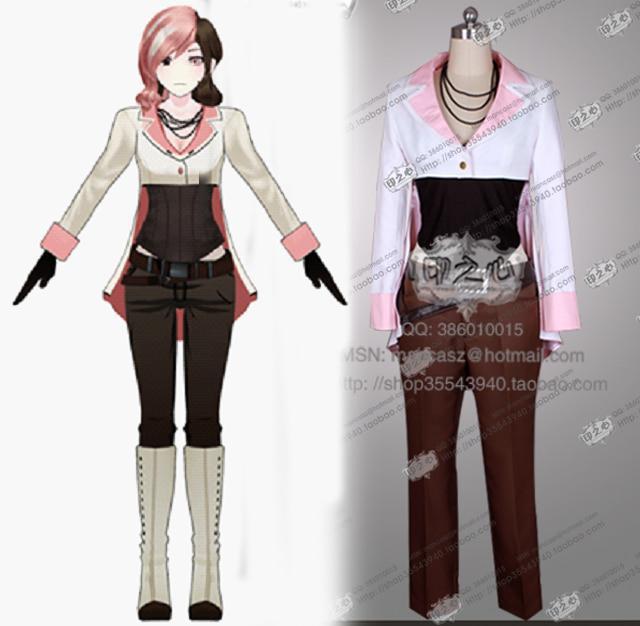 RWBY Neopolitan Neo Fashion Party Uniform Suit Cosplay Costume Full Set Anime Clothing