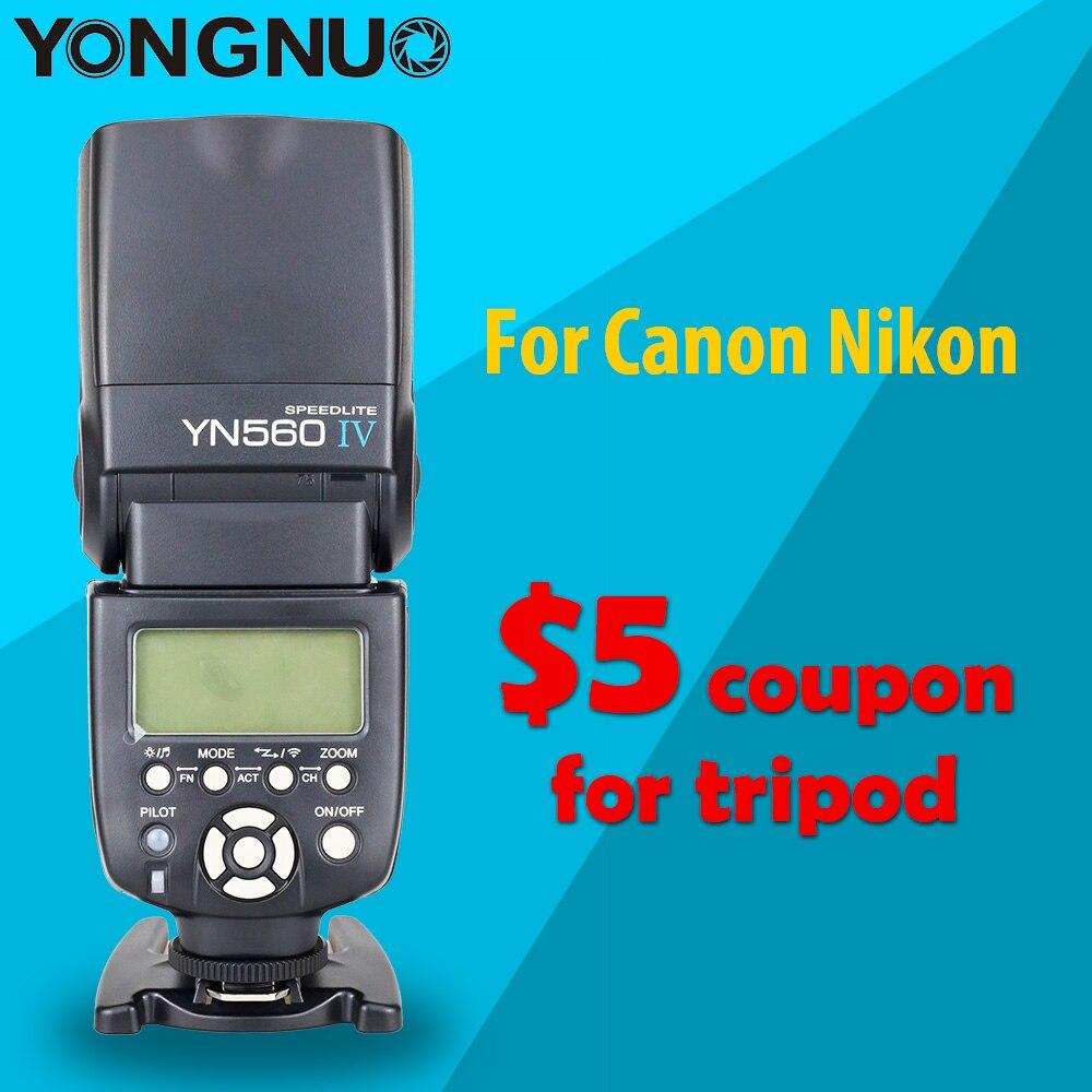 Yongnuo YN560 IV YN560IV Universal Wirelss Maître Esclave Flash Speedlite pour Canon Nikon DSLR Camera avec cadeau et $5 coupon