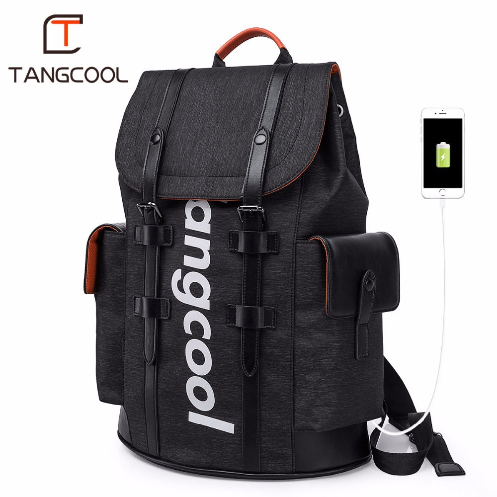 цена Tangcool Brand Korean Designer Men Fashion Backpacks Women Waterproof Shoulder Bags Leisure Boys School Backpacks Luggage Bags