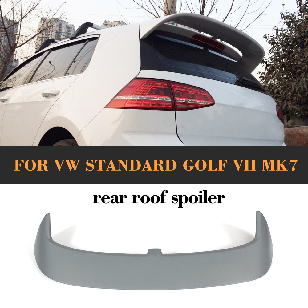 FRP unpainted Rear Roof Spoiler Auto Racing Car Tail Roof Trunk Lip Wing for VW standard golf VII MK7 2014 2015 2016 pu rear wing spoiler for audi 2010 2011 2012 auto car boot lip wing spoiler unpainted grey primer