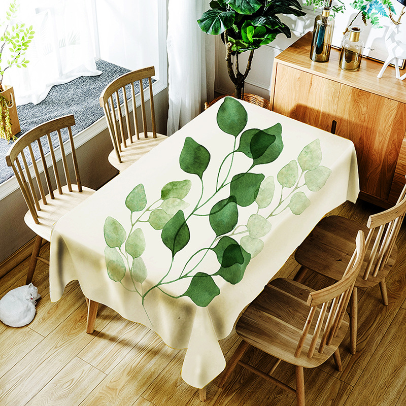 Round /Rectangle Tablecloth MulticolorTablecloth Leaf