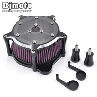 Bjmoto For Harley Touring Road King Road Glide 2008 2009 2010 2011 2012 2013 2014 2015 2016 Moto Air Cleaner Kits Intake Filter