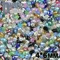 NEW Top Quality 4*6mm 100 pcs cristais Austríacos AAA gota de Água em forma de pêra contas loose bola fonte pulseira Fazer Jóias DIY