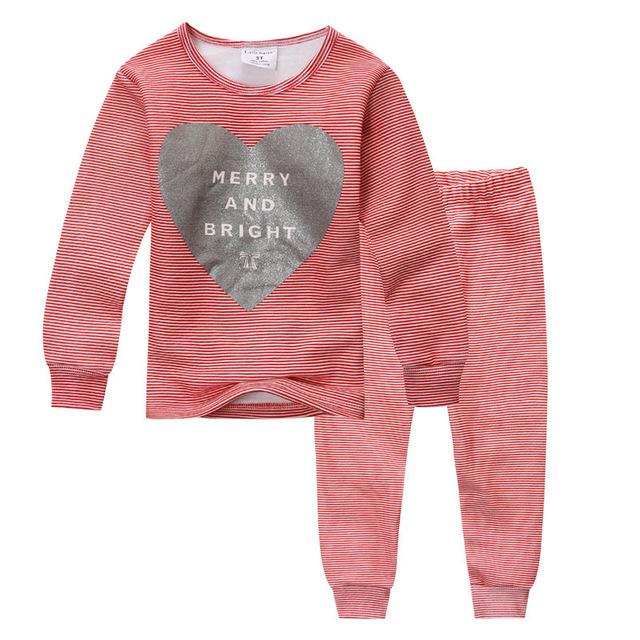Baby Girl Pijamas Set Pijamas de Inverno Crianças Sleepwear Criança Família Quente Pijamas Crianças Ternos Roupa Interior Pijamas Quentes para Meninas