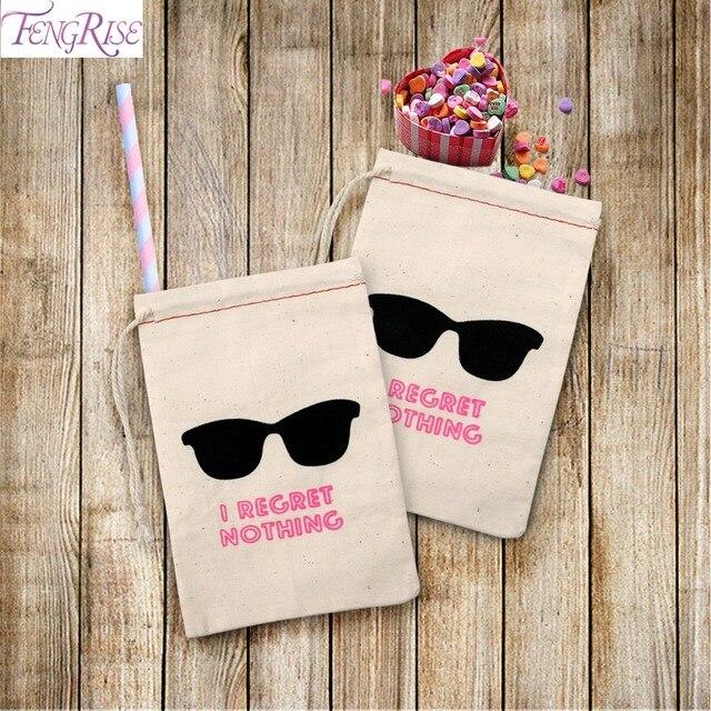 Fengrise 10pcs I Regret Nothing Hangover Kit Bags Wedding Gifts For Guests Bridal Shower Holder Bag