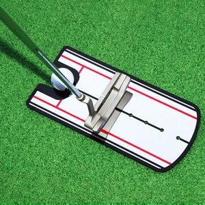 Image 1 - 2019 nouvelles aides à lentraînement de golf balançoire de Golf pratique droite Golf mise miroir alignement balançoire formateur ligne oculaire accessoires de Golf
