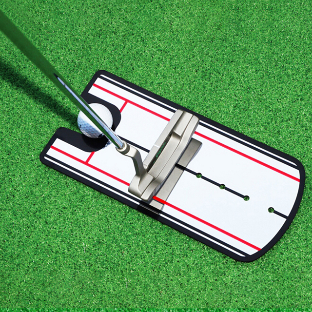 2019 nouvelles aides à lentraînement de golf balançoire de Golf pratique droite Golf mise miroir alignement balançoire formateur ligne oculaire accessoires de Golf