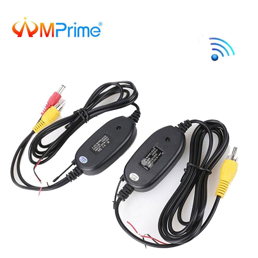 AMPrime 2,4G inalámbrico módulo transmisor y receptor de reversa coche vista trasera Monitor cámara de aparcamiento vehículo de asistencia Cam
