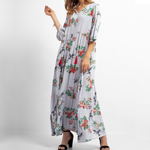 Kimuise casual long dress for women floral print v neck streetwear maxi summer 2019 vestidos