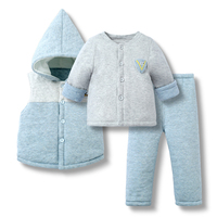 3pcs(Jacket+Tops+Pants) Winter Baby Boys Clothes Set Infant Boy Clothing Baby Girl Outfits Sets Newborn Clothes Baby Boy Outfit