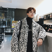 Winter Jacket Men Warm Fashion Leopard Coat Thicken Plush Casual Outwear New Male Cotton Clothing Streetwear Man Windbreaker