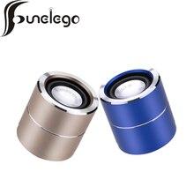 Funelego Trådlös bluetooth högtalare metall aluminiumlegering mini bärbart subwoof ljud med Mic-fjärrkontroll selfie MP3-högtalare