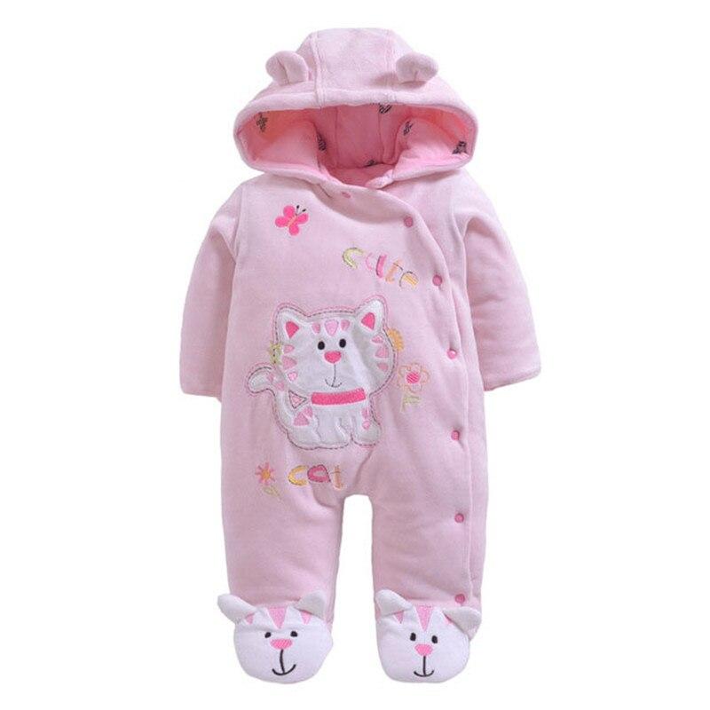 3518a62dacaf Winter Newborn Baby Rompers Thicken Warm Cotton Boys Girls Jumpsuit ...