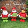 3pcs/set Kawaii Plush Toys 27*19cm Christmas Santa Claus Snowman Elk Plush Dolls ,Kids Christmas Gifts,Home Decorations