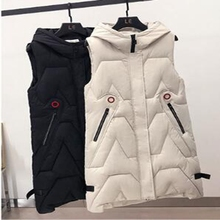 Autumn Winter Spring Vest Women Waistcoat 2020 Female Sleeveless Jacket Hooded Warm Long Vest Colete Feminino цена