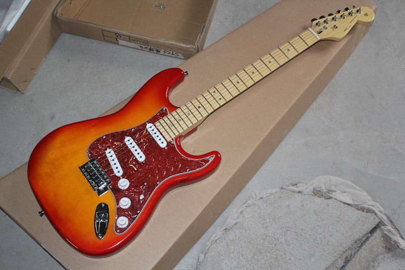 Chinese Factory musical Instruments Top quality 2017 New stratocaster Electric Guitar red sunburst color free shipping 412Chinese Factory musical Instruments Top quality 2017 New stratocaster Electric Guitar red sunburst color free shipping 412