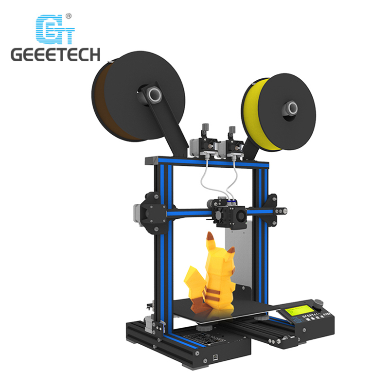 Original Geeetech A10M Mix-color 3D Printer 220 x 220 x 260mm with an optional 3D wifi module Easy And Convenient Operation