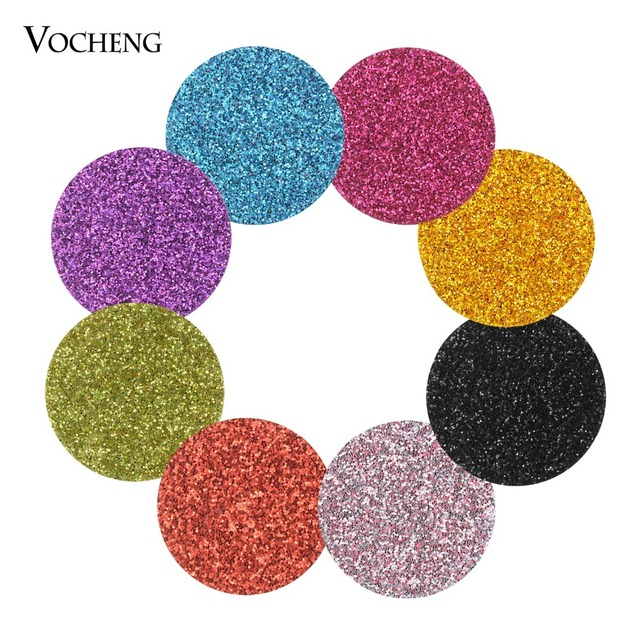 10pcs/lot Shiny Oil Pad Colorful 22mm Felt Pads for 30mm Perfume Essential Oil Diffuser Locket Accessories 8 Colors VA-1013*10