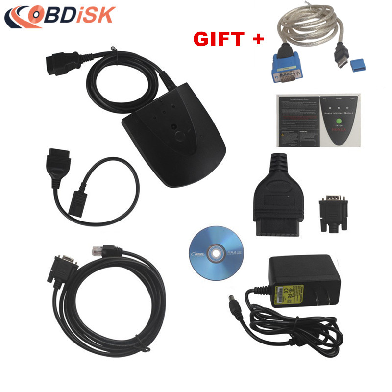 2017 High Quality V3.101.015 for Honda HDS HIM Diagnostic Tool with Double Board Get Convert Connector as A Gift Free Shipping