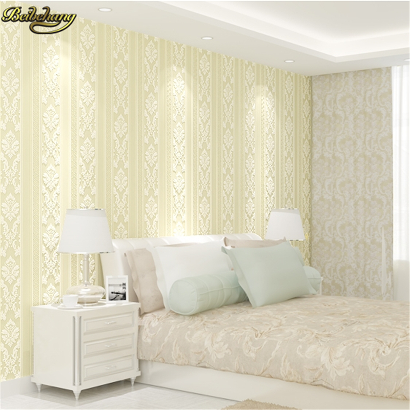 beibehang papel de parede 3D Wall paper Europe Embossed Flocking Non-Woven Living room TV Background wallpaper for walls 3 d beibehang high quality embossed wallpaper for living room bedroom wall paper roll desktop tv background wallpaper for walls 3 d