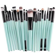 Professional 20pcs/set makeup brushes Foundation Powder Eyeshadow Blush Eyebrow Lip brush cosmetic tools maquiagem free shipping 15pcs professional makeup brushes bag cosmetic makeup brush brushes set tools foundation powder eyeshadow maquiagem new brand